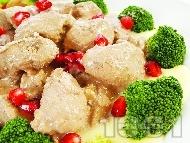 Рецепта Маринован гъши дроб на грил тиган